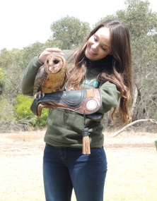 Christine with brown owl.