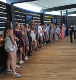 The students at Wolf Blass Winery Cellar Door